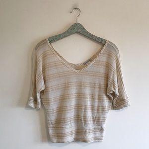Charlotte Russe | Metallic Stripe Knit Tee